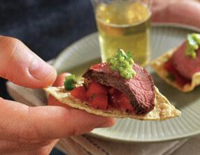 Grilled Salsa Steak Bites