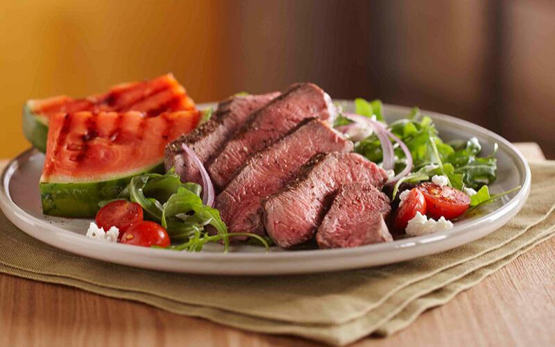 Steak and Watermelon Salad