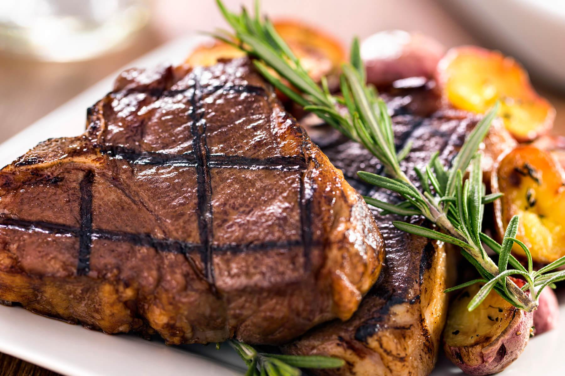 Greek-Seasoned T-Bone Steaks