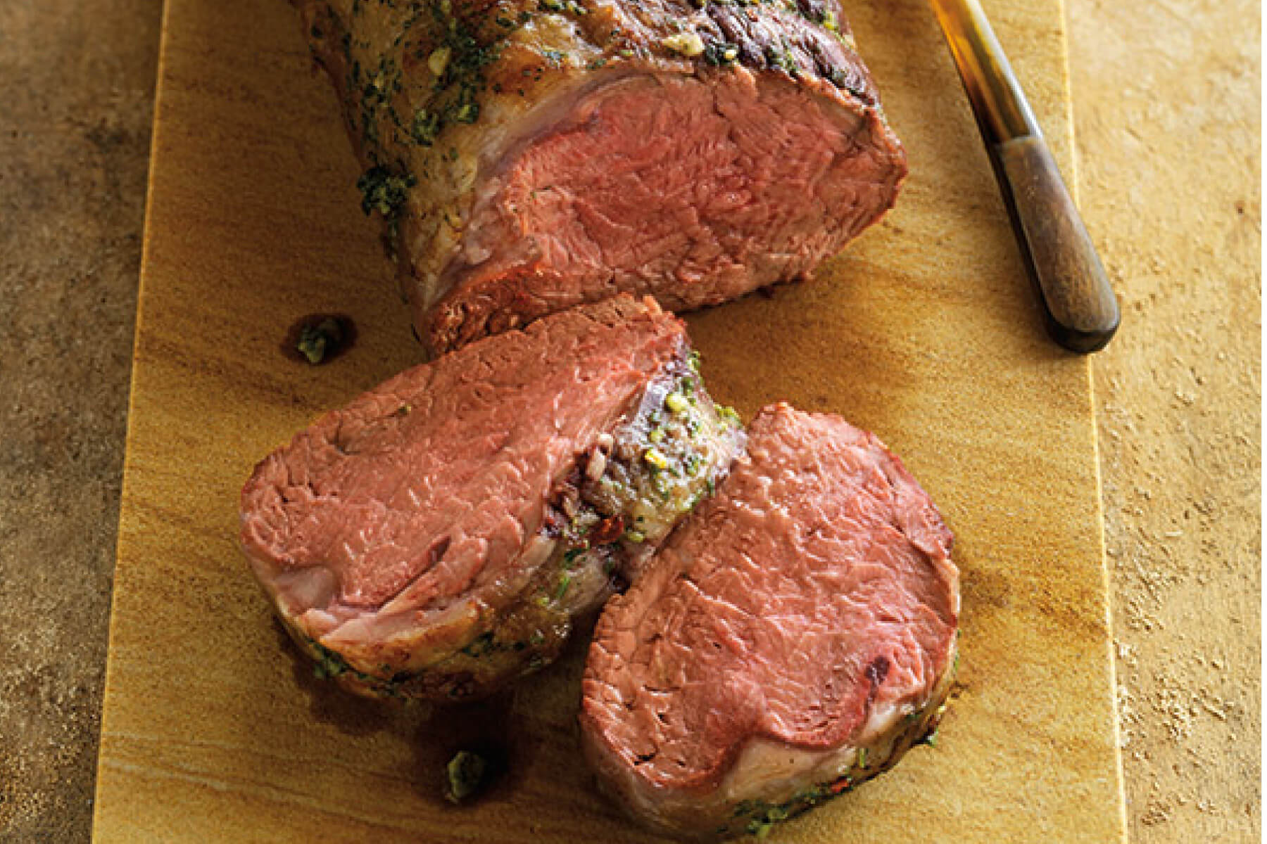 Pesto-Rubbed Ribeye Roast