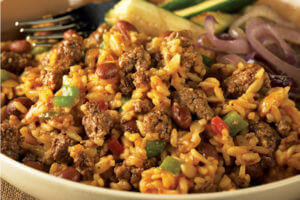 Certified Hereford Beef red beans rice