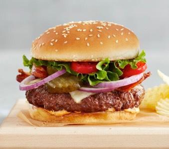Certified Hereford Beef juicy beef burger