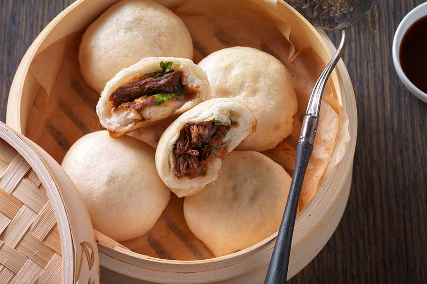 Simple Bao Beef Buns