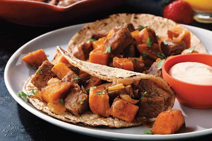 Beef and Sweet Potato Hash